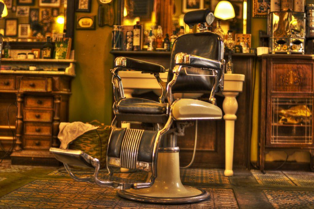 barber, chair, salon