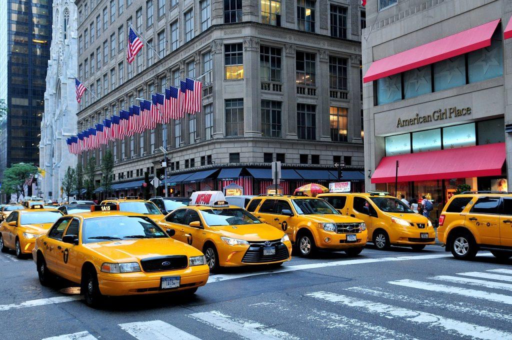 manhattan, taxis, 5th avenue