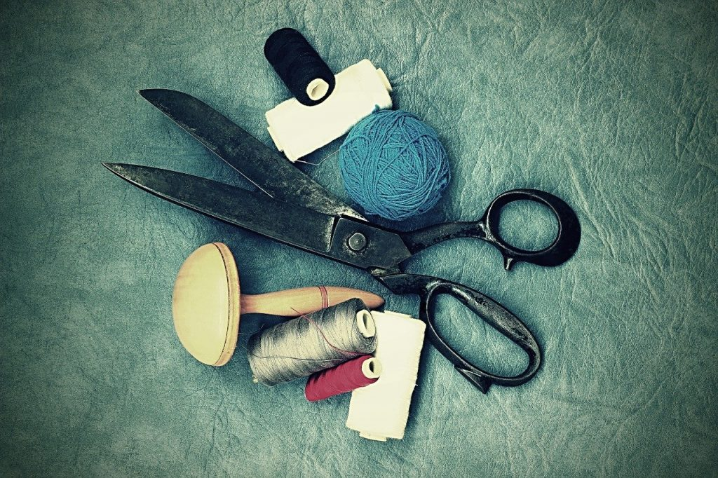 scissors, old, sewing